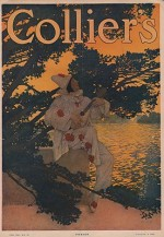 ORIG VINTAGE MAGAZINE COVER/ COLLIERS - AUGUST 8 1908by- Parrish (Illust.), Maxfield, Illust. by: Maxfield  Parrish - Product Image