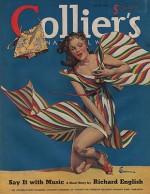 ORIG VINTAGE MAGAZINE COVER/ COLLIERS - JULY 20 1940by- Jackson (Illust.), E.M., Illust. by: E.M.  Jackson - Product Image