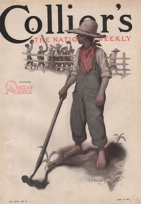ORIG VINTAGE MAGAZINE COVER/ COLLIER'S - JUNE 10 1911illustrator- H.J.  Peck - Product Image
