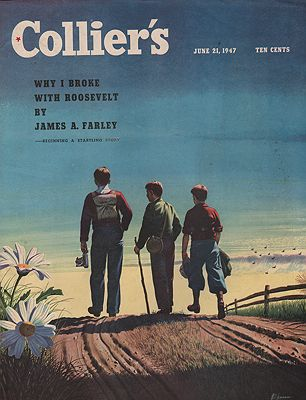 ORIG VINTAGE MAGAZINE COVER/ COLLIER'S - JUNE 21 1947by: Ekman (Illust.), Stan - Product Image