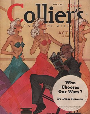 ORIG VINTAGE MAGAZINE COVER/ COLLIER'S - MARCH 4 1939illustrator- Robert O.  Reid - Product Image