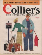 ORIG VINTAGE MAGAZINE COVER/ COLLIERS - MAY 18 1935by- Beckhoff (Illust.), Harry, Illust. by: Harry  Beckhoff - Product Image