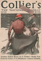 ORIG VINTAGE MAGAZINE COVER/ COLLIERS - OCTOBER 22 1921by- Abbott (Illust.), S. N., Illust. by: S.N.  Abbott - Product Image