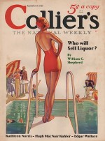 ORIG VINTAGE MAGAZINE COVER/ COLLIERS - SEPTEMBER 10 1932by- Skidmore (Illust.), T. D., Illust. by: T.D.  Skidmore - Product Image