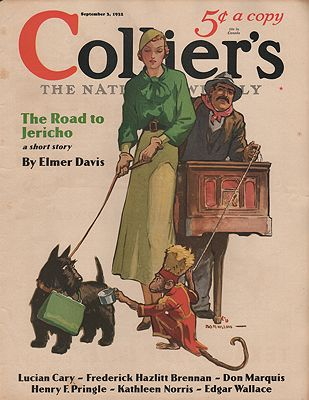 ORIG VINTAGE MAGAZINE COVER/ COLLIER'S - SEPTEMBER 3 1932by: Barnum (Illust.), Jay Hyde - Product Image
