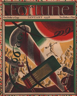 ORIG VINTAGE MAGAZINE COVER/ FORTUNE - JANUARY 1936illustrator- Norman  Reeves - Product Image