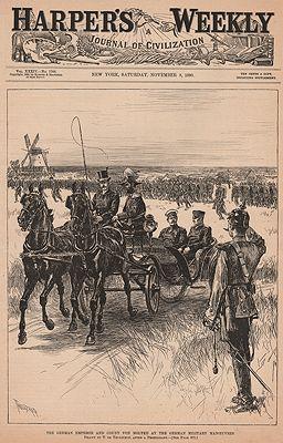 ORIG VINTAGE MAGAZINE COVER/ HARPER'S WEEKLY - NOVEMBER 8 1890by: Thulstrup (Illust.), Thure de - Product Image