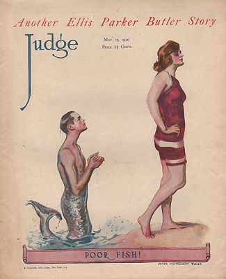 ORIG VINTAGE MAGAZINE COVER/ JUDGE - MAY 15 1920illustrator- James Montgomery  Flagg - Product Image
