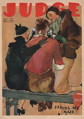 ORIG VINTAGE MAGAZINE COVER/ JUDGE - NOVEMBER 1932illustrator- Gilbert  Bundy - Product Image