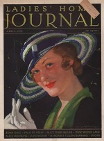 ORIG VINTAGE MAGAZINE COVER/ LADIES HOME JOURNAL - APRIL 1933by- Chambers (Illust.), C.E., Illust. by: C.E.  Chambers - Product Image