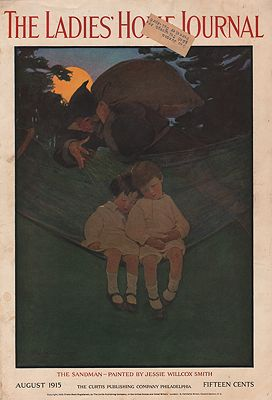 ORIG VINTAGE MAGAZINE COVER/ LADIES HOME JOURNAL - AUGUST 1915illustrator- Jessie Wilcox  Smith - Product Image
