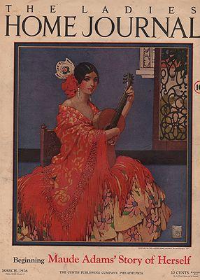 ORIG VINTAGE MAGAZINE COVER/ LADIES HOME JOURNAL - MARCH 1926illustrator- Gertrude  Kay - Product Image