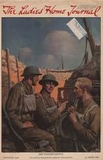 ORIG VINTAGE MAGAZINE COVER/ LADIES HOME JOURNAL - NOVEMBER 1918by- Brett (Illust.), Harold, Illust. by: Harold  Brett - Product Image