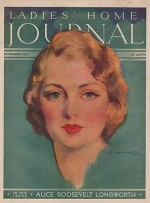 ORIG VINTAGE MAGAZINE COVER/ LADIES HOME JOURNAL - NOVEMBER 1932by- Hoff (Illust.), Guy, Illust. by: Guy   Hoff - Product Image