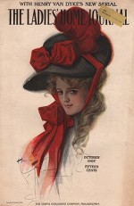 ORIG VINTAGE MAGAZINE COVER/ LADIES HOME JOURNAL - OCTOBER 1907by- Fisher (Illust.), Harrison, Illust. by: Harrison  Fisher - Product Image