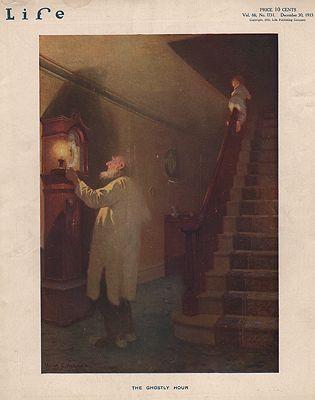 ORIG VINTAGE MAGAZINE COVER/ LIFE - DECEMBER 30 1915illustrator- Victor  Anderson - Product Image