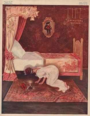 ORIG VINTAGE MAGAZINE COVER/ LIFE - JANUARY 20 1910illustrator- Henry  Hutt - Product Image