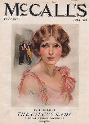 ORIG VINTAGE MAGAZINE COVER/ MCCALL'S - JULY 1925illustrator- Neysa  McMein - Product Image