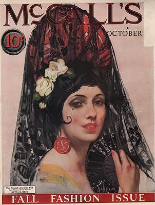 ORIG VINTAGE MAGAZINE COVER/ MCCALL'S - OCTOBER 1924illustrator- Neysa  McMein - Product Image