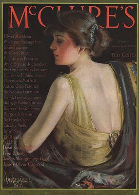 ORIG VINTAGE MAGAZINE COVER/ MCCLURE'S - DECEMBER 1916illustrator- Neysa  McMein - Product Image