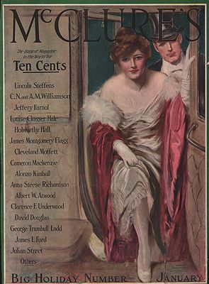 ORIG VINTAGE MAGAZINE COVER/ MCCLURE'S - JANUARY 1915illustrator- Clarence  Underwood - Product Image
