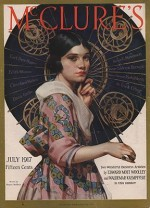 ORIG VINTAGE MAGAZINE COVER/ MCCLURE'S - JULY 1917by- McMein (Illust.), Neysa, Illust. by: Neysa  McMein - Product Image