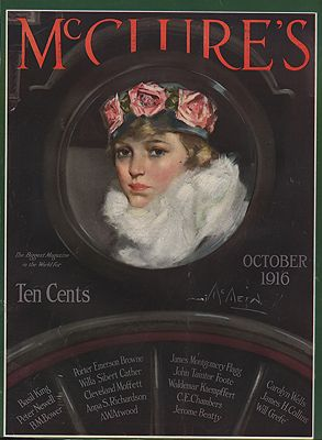 ORIG VINTAGE MAGAZINE COVER/ MCCLURE'S - OCTOBER 1916illustrator- Neysa  McMein - Product Image