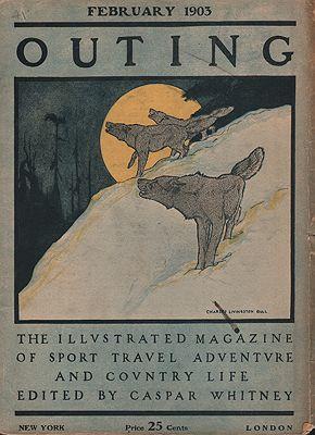 ORIG VINTAGE MAGAZINE COVER/ OUTING - FEBRUARY 1903illustrator- Charles Livingston  Bull - Product Image