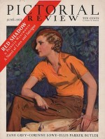 ORIG VINTAGE MAGAZINE COVER/ PICTORIAL REVIEW - JUNE 1932by- Barclay (Illust.), McClelland, Illust. by: McClelland  Barclay - Product Image
