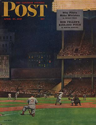 ORIG VINTAGE MAGAZINE COVER/ SATURDAY EVENING POST - APRIL 19 1947by: Falter (Illust.), John - Product Image