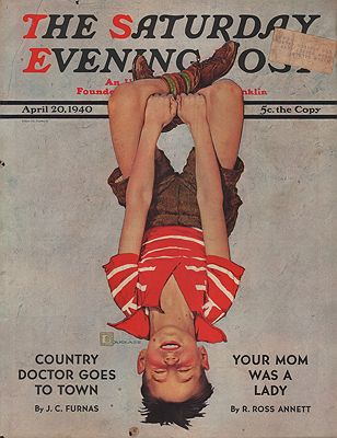ORIG VINTAGE MAGAZINE COVER/ SATURDAY EVENING POST - APRIL 20 1940by: Crockwell (Illust.), Douglas - Product Image