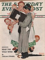 ORIG VINTAGE MAGAZINE COVER/ SATURDAY EVENING POST - APRIL 27 1940by- Rockwell (Illust.), Norman, Illust. by: Norman  Rockwell - Product Image