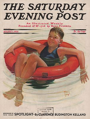 ORIG VINTAGE MAGAZINE COVER/ SATURDAY EVENING POST - AUGUST 1 1936illustrator- Eugene  Iverd - Product Image