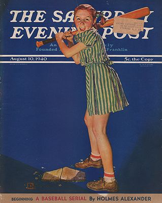 ORIG VINTAGE MAGAZINE COVER/ SATURDAY EVENING POST - AUGUST 10 1940by: Crockwell (Illust.), Douglas - Product Image