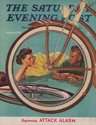 ORIG VINTAGE MAGAZINE COVER/ SATURDAY EVENING POST - AUGUST 16 1941by: Crockwell (Illust.), Douglas - Product Image