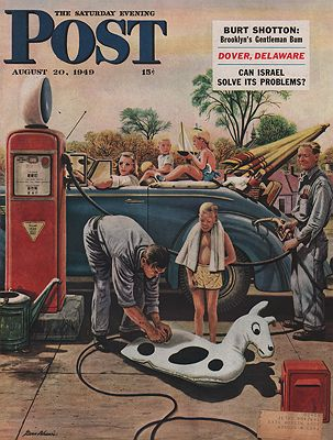ORIG VINTAGE MAGAZINE COVER/ SATURDAY EVENING POST - AUGUST 20 1949illustrator- Stevan  Dohanos - Product Image