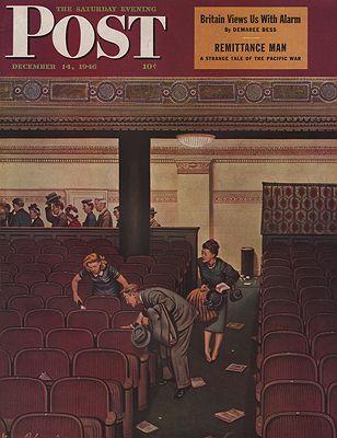 ORIG VINTAGE MAGAZINE COVER/ SATURDAY EVENING POST - DECEMBER 14 1946illustrator- Stevan  Dohanos - Product Image