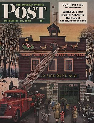 ORIG VINTAGE MAGAZINE COVER/ SATURDAY EVENING POST - DECEMBER 16 1950illustrator- Stevan  Dohanos - Product Image