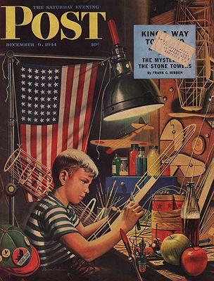 ORIG VINTAGE MAGAZINE COVER/ SATURDAY EVENING POST - DECEMBER 9 1944illustrator- Stevan  Dohanos - Product Image
