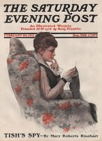 ORIG VINTAGE MAGAZINE COVER/ SATURDAY EVENING POST - FEBRUARY 20 1915by- MacLellan (Illust.), Charles , Illust. by: Chas.  McClellan - Product Image