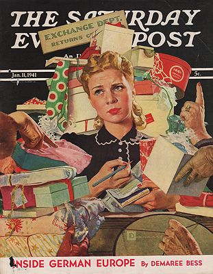 ORIG VINTAGE MAGAZINE COVER/ SATURDAY EVENING POST - JANUARY 11 1941by: Crockwell (Illust.), Douglas - Product Image