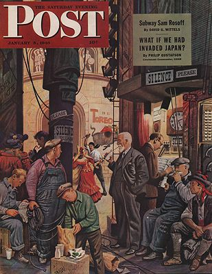 ORIG VINTAGE MAGAZINE COVER/ SATURDAY EVENING POST - JANUARY 3 1946by: Falter (Illust.), John - Product Image