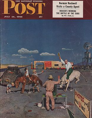 ORIG VINTAGE MAGAZINE COVER/ SATURDAY EVENING POST - JULY 24 1948by: Falter (Illust.), John - Product Image