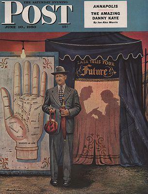 ORIG VINTAGE MAGAZINE COVER/ SATURDAY EVENING POST - JUNE 10 1950illustrator- Stevan  Dohanos - Product Image