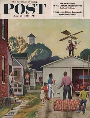 ORIG VINTAGE MAGAZINE COVER/ SATURDAY EVENING POST - JUNE 20 1953illustrator- John  Falter - Product Image
