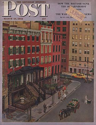 ORIG VINTAGE MAGAZINE COVER/ SATURDAY EVENING POST - MARCH 25 1944by: Falter (Illust.), John - Product Image