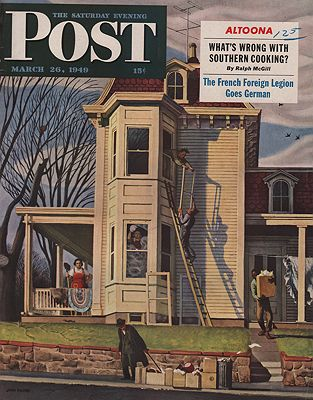 ORIG VINTAGE MAGAZINE COVER/ SATURDAY EVENING POST - MARCH 26 1949illustrator- John  Falter - Product Image