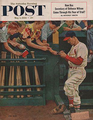 ORIG VINTAGE MAGAZINE COVER/ SATURDAY EVENING POST - MAY 1 1954by: Falter (Illust.), John - Product Image