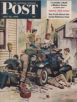 ORIG VINTAGE MAGAZINE COVER/ SATURDAY EVENING POST - MAY 20 1950illustrator- Stevan  Dohanos - Product Image