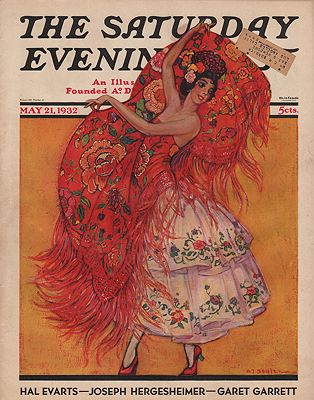 ORIG VINTAGE MAGAZINE COVER/ SATURDAY EVENING POST - MAY 21 1932illustrator- H.J.  Soulen - Product Image